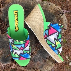 NEW Loudmouth Platform Espadrille Sandals Wedges
